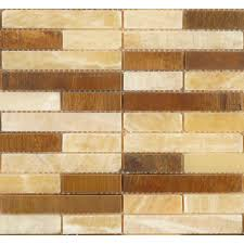 random bricks antique copper metal u0026 stone random brick tile