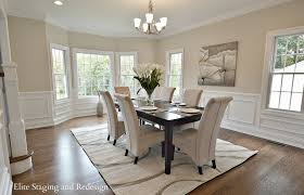 Chair Rail Ideas For Dining Room Contemporary Dining Room With Wainscoting By Elite Staging And