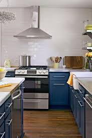 navy blue kitchen cabinets with brass hardware 25 winning kitchen color schemes for a look you ll