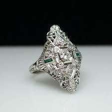 wedding ring big antique diamond cocktail ring big late edwardian engagement ring