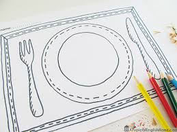 Printable Knife Templates Coloring Pages Printable Free Printable Placemats For Kids