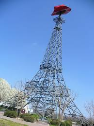 Texas travel bug images Real or replica 9 carbon copies of world famous landmarks paris jpg