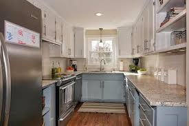 white cabinets on top blue on bottom 27 beautiful kitchen color ideas to bring to your kitchen