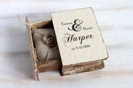 box personalized rustic ring bearer box wedding ring box personalized ring bearer