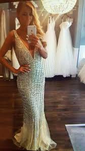 great gatsby inspired prom dresses luxury bead robe rhinestone glitter mermaid gowns great