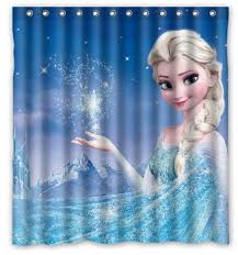 buy custom frozen elsa magical printed polyester shower