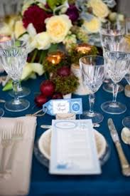 Blue Christmas Wedding Decorations by