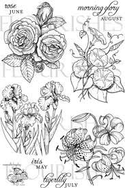 June Flower Tattoos - a year in flowers may iris june rose july tiger lily and