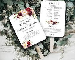 Wedding Ceremony Program Fans Ceremony Program Fan