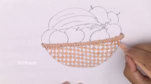 how to draw a fruit basket kids craft toys youtube