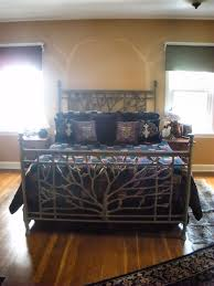 bedroom contemporary tree bed design inspiration with style iron