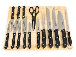 Kitchen Cutting Knives Masterchef 16 Pc Kitchen Knife Set W Wood Cutting Board Steak