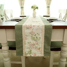 country style poly cotton table runners country