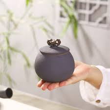 popular pottery canisters buy cheap pottery canisters lots from black small ceramic tea caddy pottery canister food storage container coffee jar china