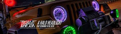 automotive led lights bars strips halos bulbs custom light kits