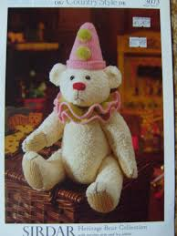 sirdar heritage bear collection knitting pattern 3073 teddy bear