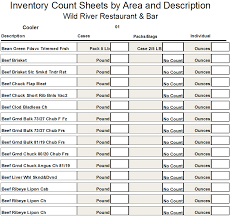 Restaurant Inventory Spreadsheet by Restaurant Inventory Print Counting Sheets