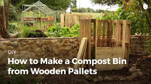 how to make a compost bin from wooden pallets youtube