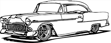 line drawing of old s line muscle car coloring pages drawing of