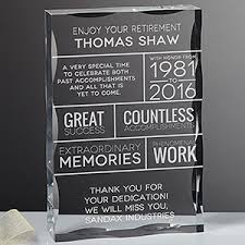 engraved office gifts retirement wishes personalized keepsake block office gifts