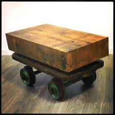 wood coffee table with wheels wagon coffee tables wheel table had i made the fight edubay