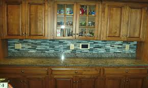 Kitchen Backsplash Tiles Glass Decorative Blue Glass Tile Backsplash On Kitchen With Jasper Blue