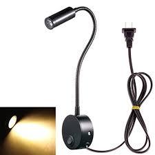 flexible gooseneck wall mount reading lamp light led wall sconce