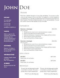 resume template word doc resume templates free doc shalomhouse us