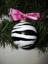 zebra print ornament i want that for zebra print