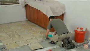how to install ceramic and porcelain floor tile flooring how