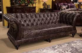 Narrow Leather Sofa Baron Leather Sofa By Italia 100 Top Grain For Designs 2 Regarding