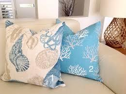 coastal cushions beach house pillows coral nautical beach