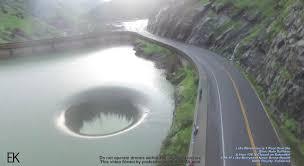 hole in lake sparks curiosity so man flies drone inside