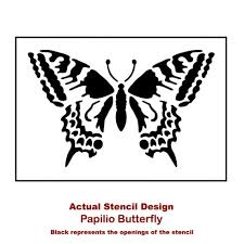 papilio butterfly stencil butterfly stencils for nursery walls