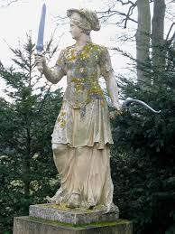 Statues Of Gods by Statue Of Frigg At Stowe Gardens In Buckinghamshire England