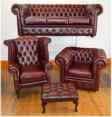 Pottery Barn Leather Chair Living Room Oxford Chesterfield Sofa Full For Sale Leather Sofas