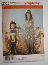 Simplicity Halloween Costumes Simplicity 2329 Sewing Pattern Halloween Costume Cleopatra Girls