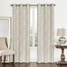 paisley jacquard window curtain set