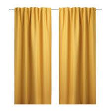 Curtains 145 Cm Drop Ikea Vilborg Stylish Yellow Curtains 1 Pair Length 300cm Width