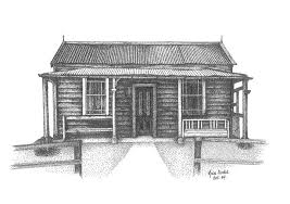 old nz house pointillism drawing mike oliver pointallism