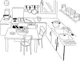 comment dessiner une cuisine dididou coloriage la cuisine page 3
