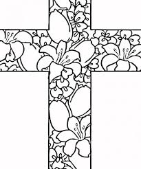 christian cross coloring pages cross color page coloring pages