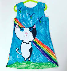 hello wonderful turn your kid u0027s art into a dress they can show off