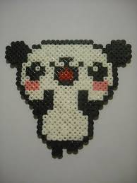 hama beads panda bear by majoelx on deviantart hama beads