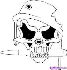 skull drawing designs easy clipartxtras