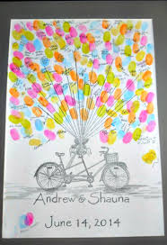 wedding guestbook ideas creative fingerprint wedding guestbook ideas crafty morning