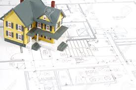residential blueprints residential home blueprints with a made house model stock