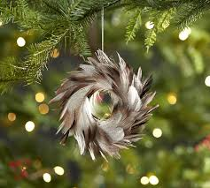 feather wreath ornament pottery barn