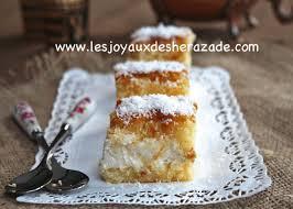 chhiwate ramadan cuisine marocaine basboussa à la crème chhiwat ramadan les joyaux de sherazade