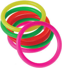 amazon com us toy neon mini carnival game rings toys 12 pack